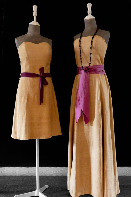 Haute couture lotus dress by Samatoa