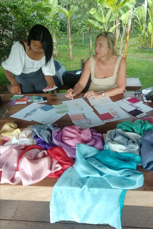 Haute couture by Samatoa choosing colors