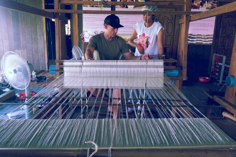 Handicraft workshop weaving